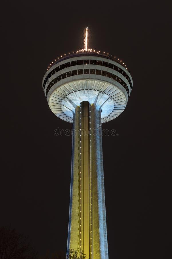 Torre de Skylon - Niagara Falls, Canadá foto de archivo