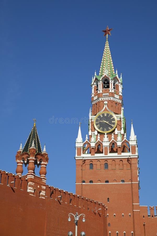 A torre de Spasskaya do Kremlin imagem de stock royalty free