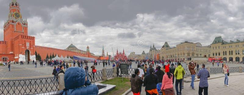 Torre de Spasskaya do Kremlin no quadrado vermelho, Moscou, Rússia fotos de stock