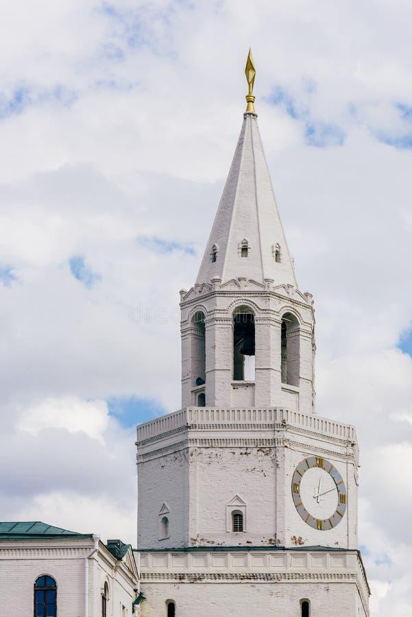Torre de Spasskaya en Kazán, Rusia fotos de archivo