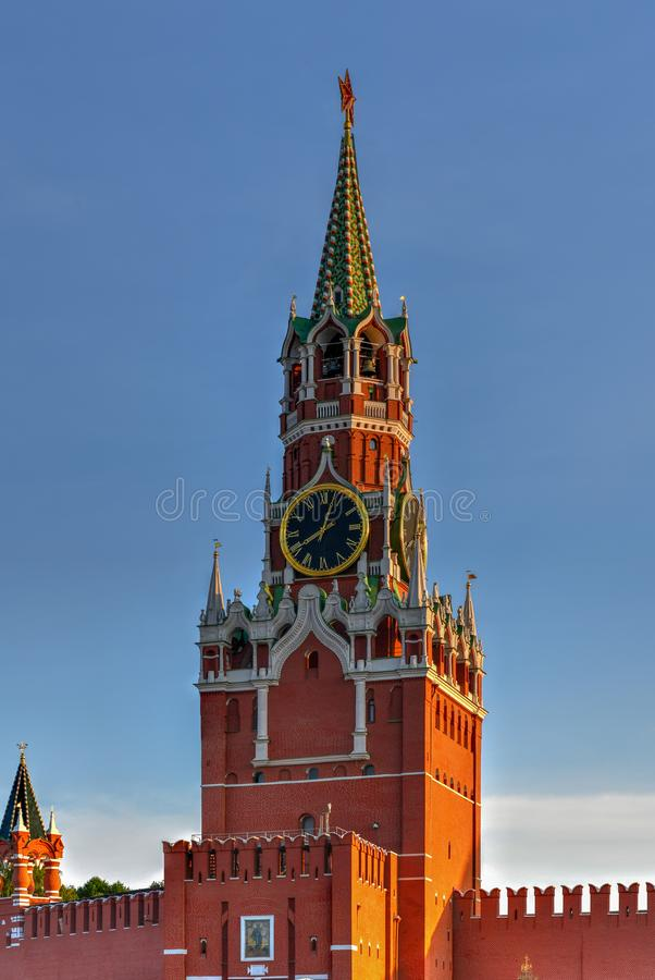 Torre de Spasskaya - Moscou, Rússia imagens de stock royalty free