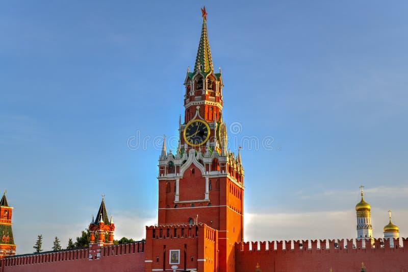 Torre de Spasskaya - Moscou, Rússia foto de stock royalty free