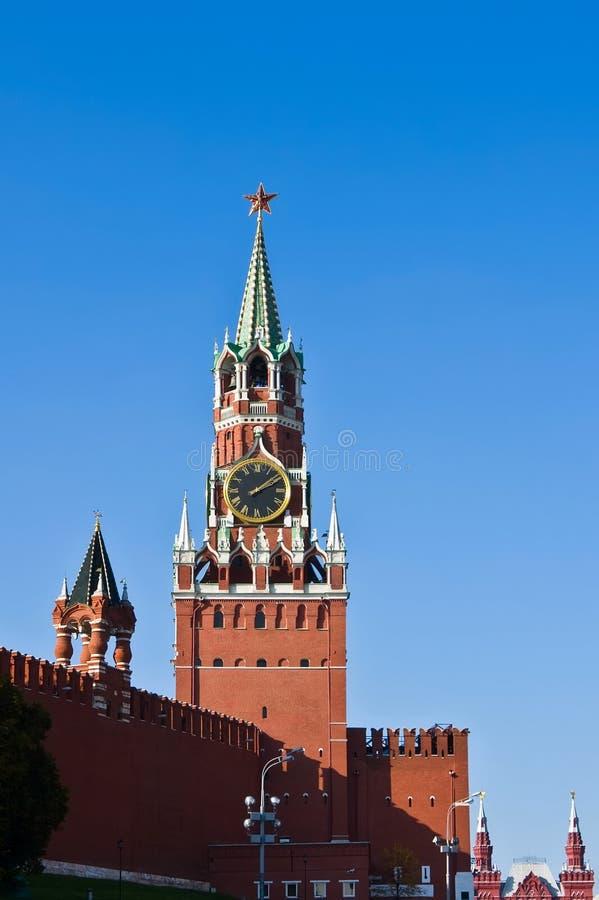 Torre de Spasskaya, Moscovo foto de stock royalty free