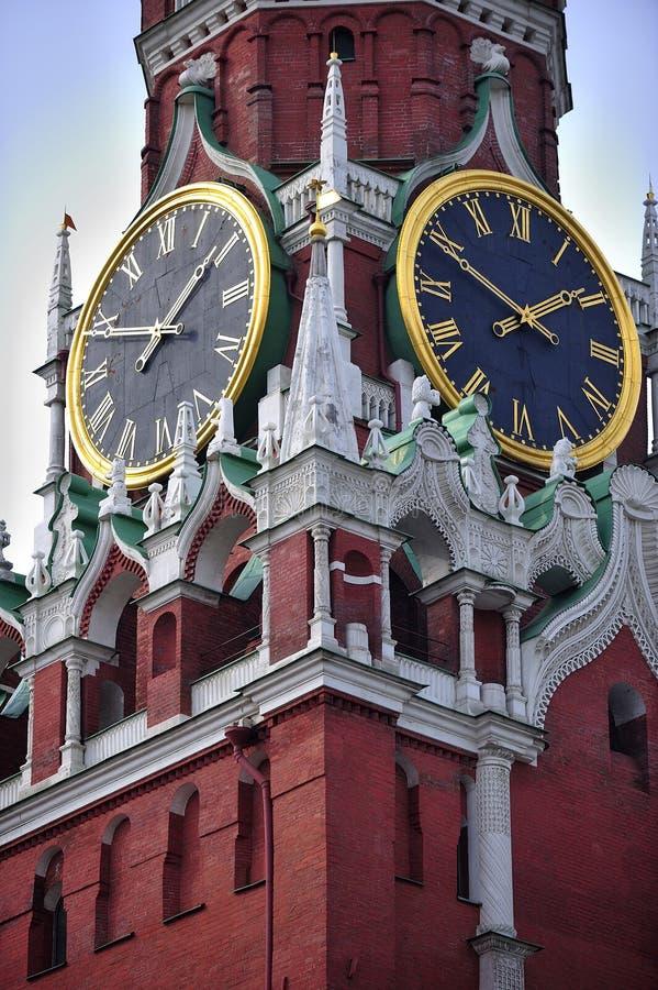 Torre de Spasskaya de Moscovo Kremlin imagem de stock royalty free