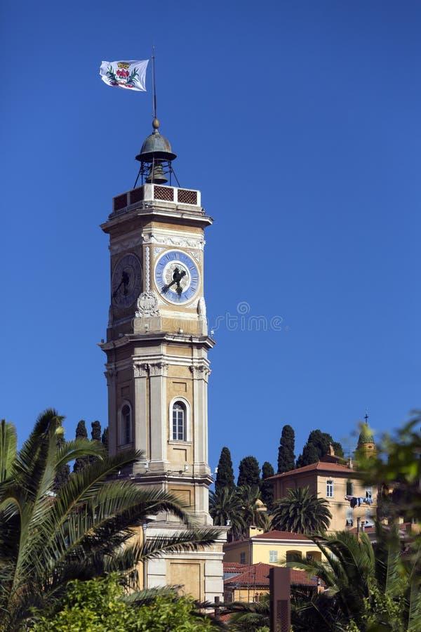 Torre de St. Francois - Niza - riviera francesa imagenes de archivo