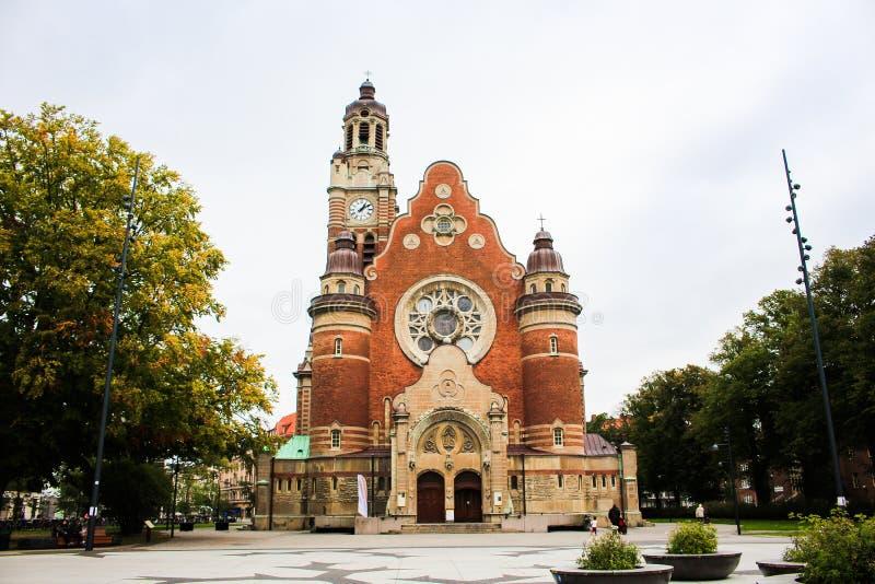 Torre de St Johannes Church en Malmö, Suecia imagen de archivo libre de regalías