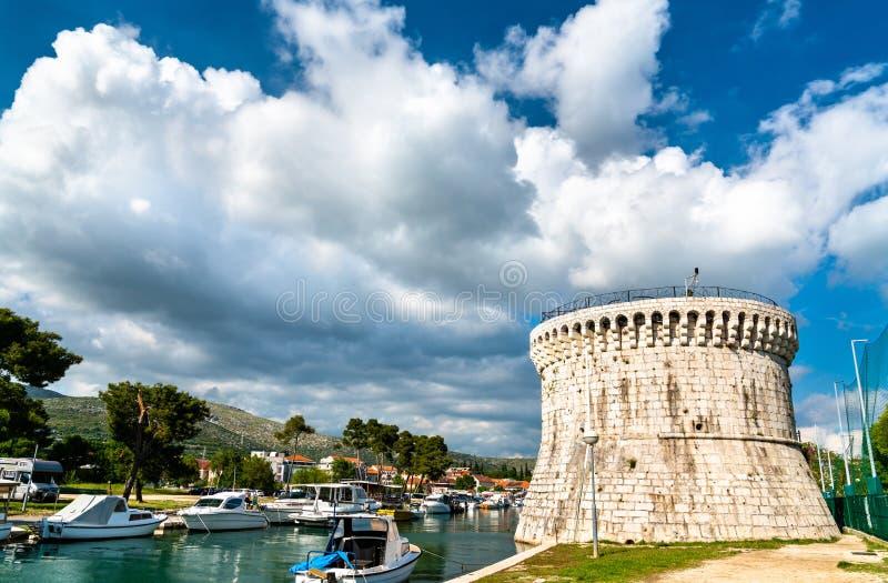 Torre de St Mark en Trogir, Croacia fotografía de archivo