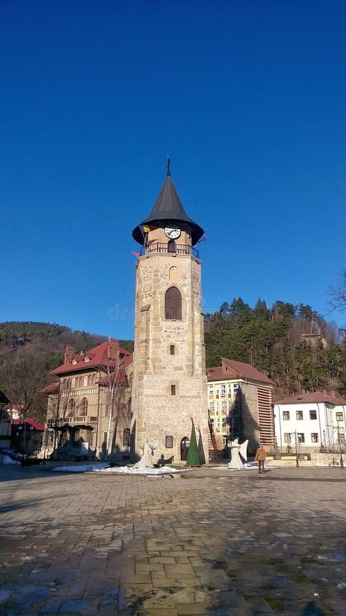 A torre de Stephen, Piatra Neamt, Romênia foto de stock