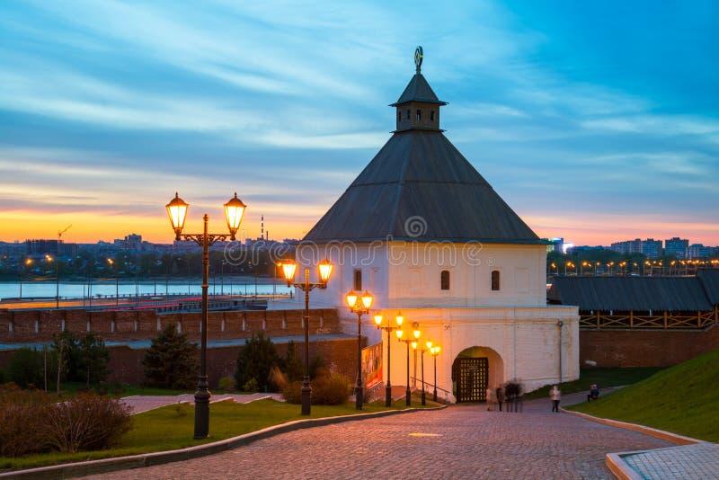 A torre de Taynitskaya do Kremlin de Kazan foto de stock royalty free