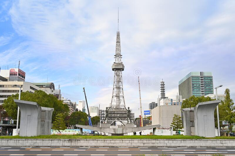 Torre de televisión Nagoya, Nagoya, Japón imágenes de archivo libres de regalías