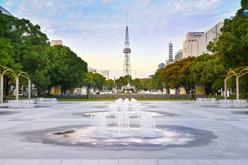 Torre de televisión Nagoya, Nagoya, Japón imagen de archivo libre de regalías