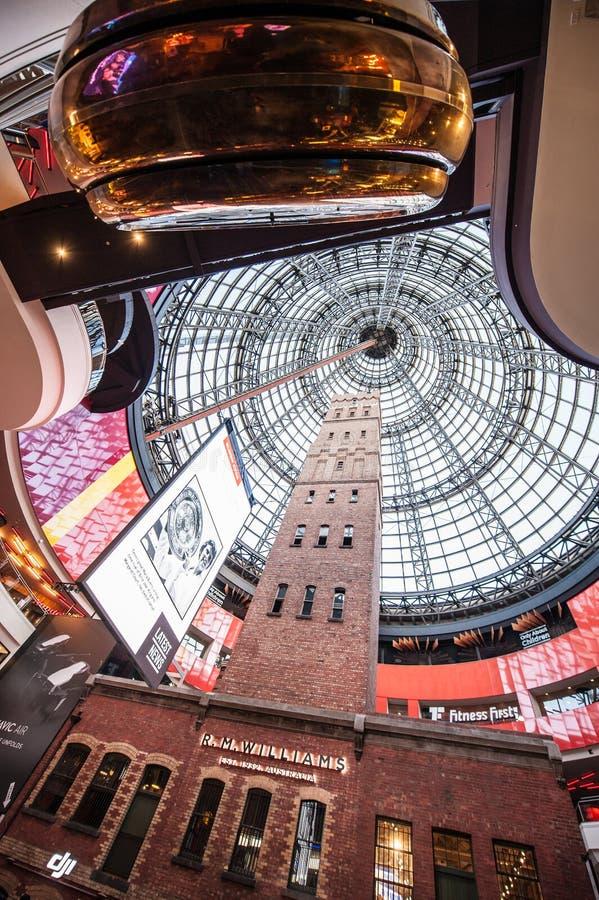Torre de tiro das capoeiras na central de Melbourne, Melbourne fotografia de stock