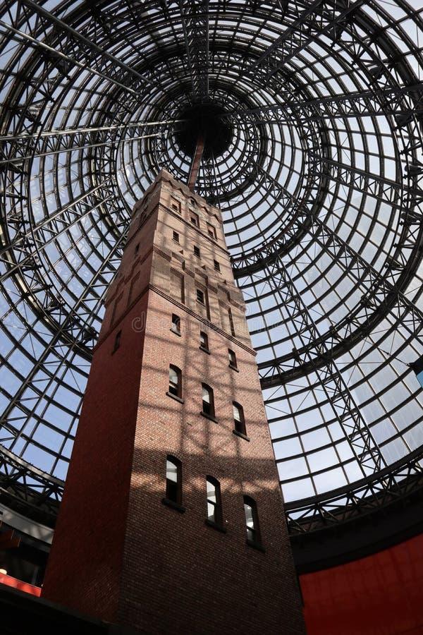 Torre de tiro en la central de Melbourne foto de archivo libre de regalías