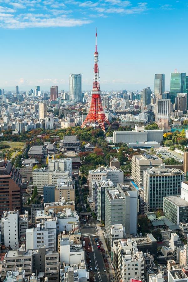 Torre de Tokio, horizonte y paisaje urbano de la ciudad de Japón - de Tokio fotografía de archivo