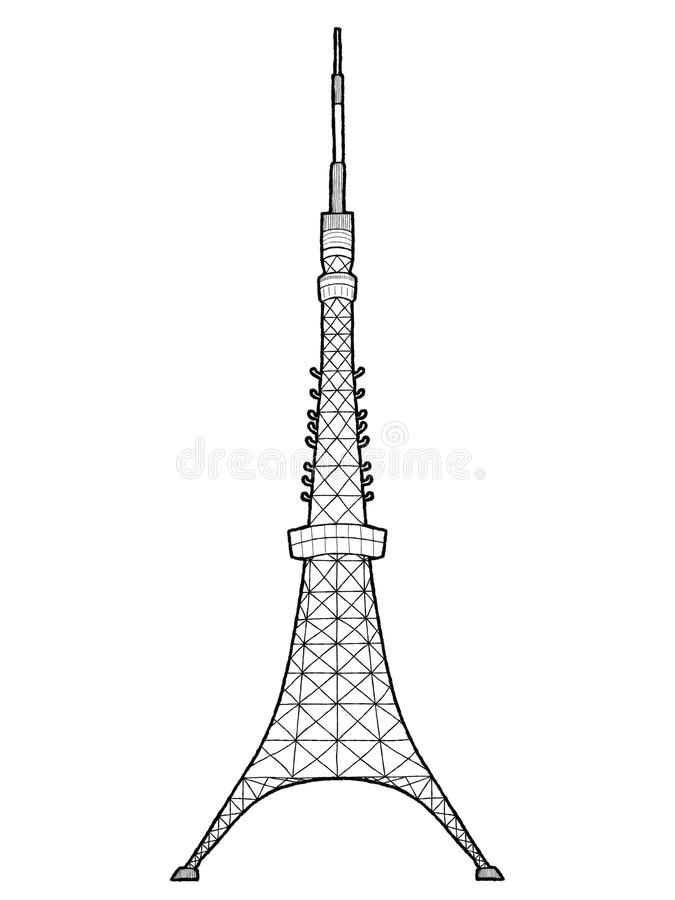Torre de Tokyo ilustração stock