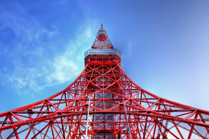 Torre de Tokyo em HDR fotografia de stock