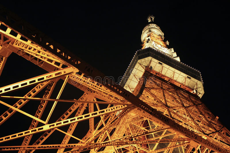 Torre de Tokyo na noite foto de stock royalty free