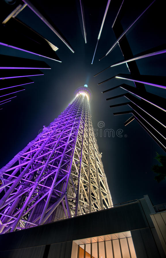 Torre de Tokyo na noite fotografia de stock royalty free