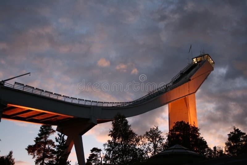 Torre de trampolín de Oslo fotos de archivo