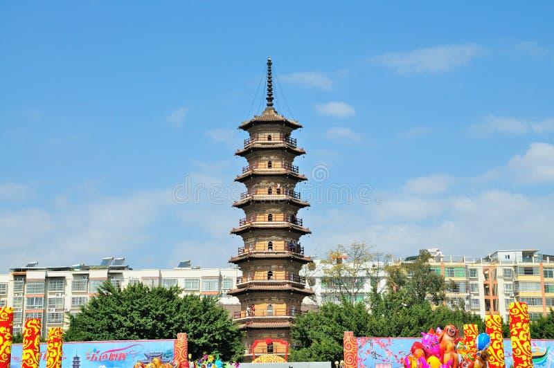 Torre de tres sombras fotografía de archivo