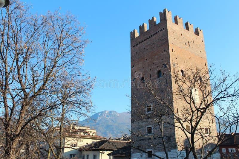Torre de Vanga em Trento, ITÁLIA foto de stock royalty free