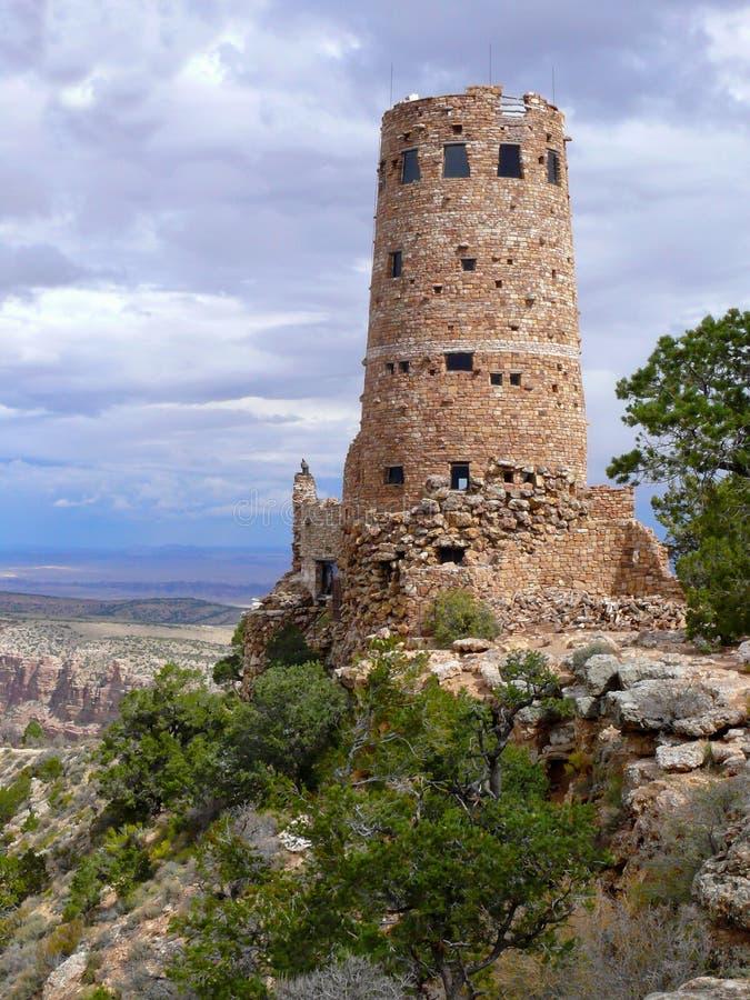 Torre de vigia da opinião do deserto da garganta grande, o Arizona fotos de stock royalty free