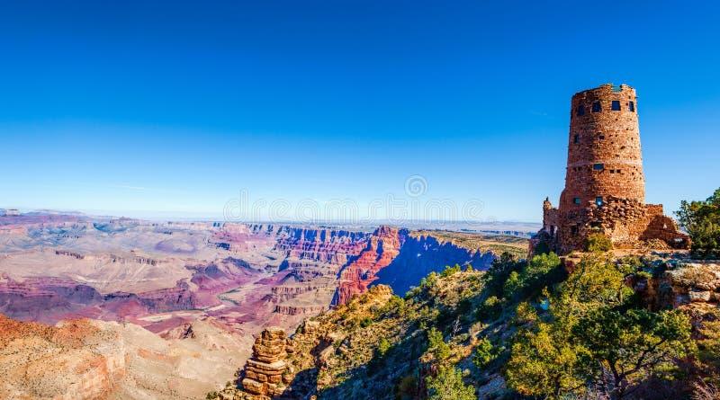 Torre de vigia da opinião do deserto da garganta grande, o Arizona fotografia de stock royalty free