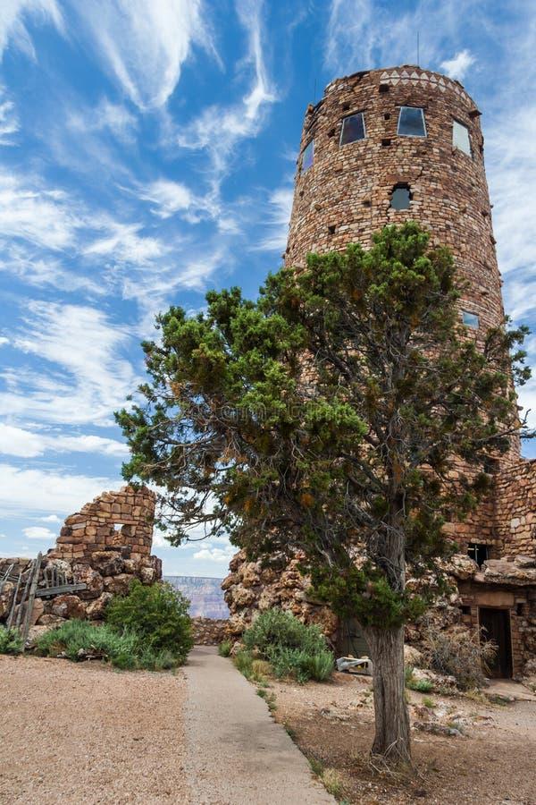 Torre de vigia da opinião do deserto em Grand Canyon, borda sul, o Arizona, EUA fotografia de stock