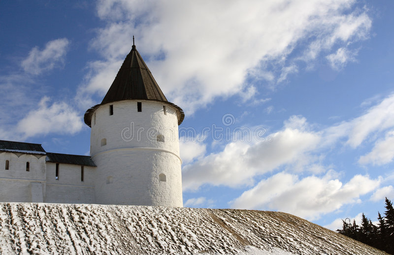 Torre de vigia de Kazan Kremlin. imagens de stock