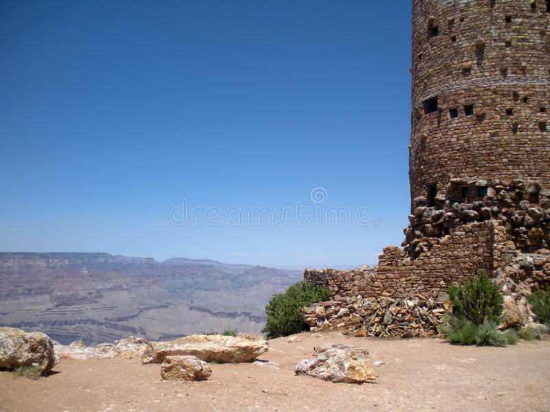 Torre de vigia do Grand Canyon imagem de stock royalty free