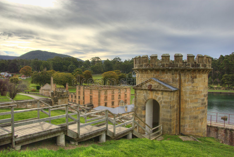 Torre de vigia do Port Arthur imagem de stock