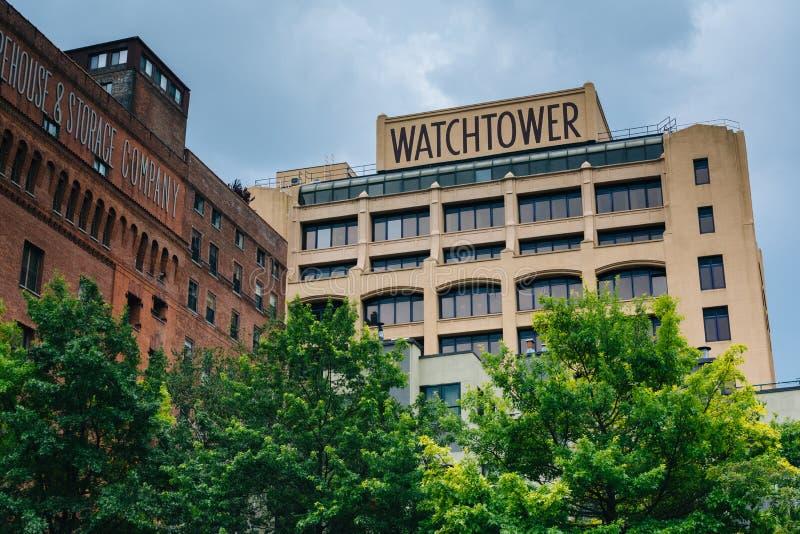 A torre de vigia, em DUMBO, Brooklyn, New York City fotos de stock royalty free