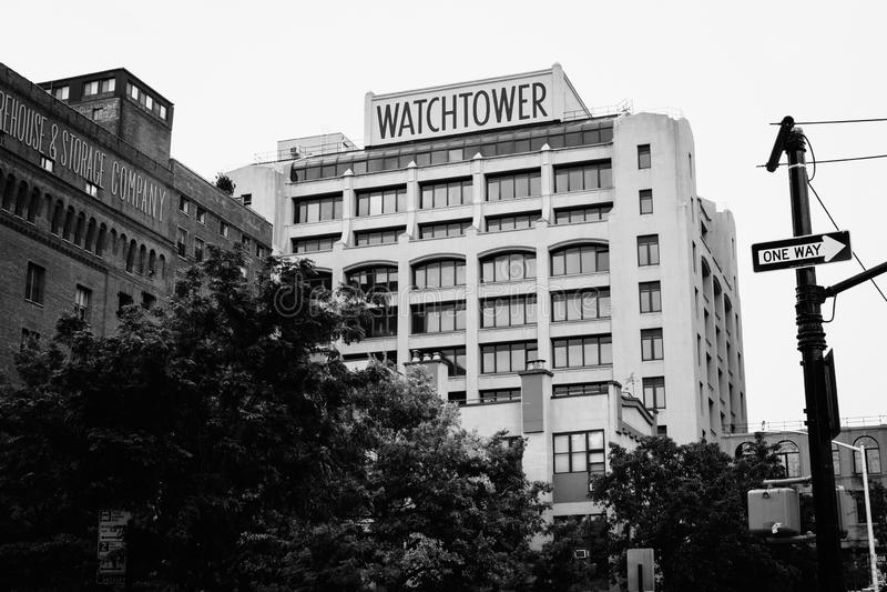 A torre de vigia, em DUMBO, Brooklyn, New York City imagens de stock
