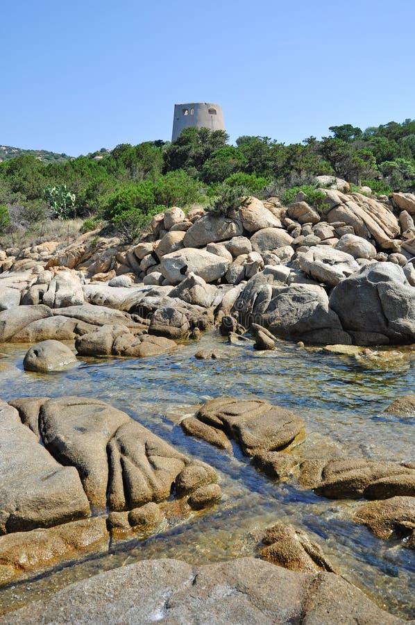 Torre de vigia espanhola fotografia de stock royalty free