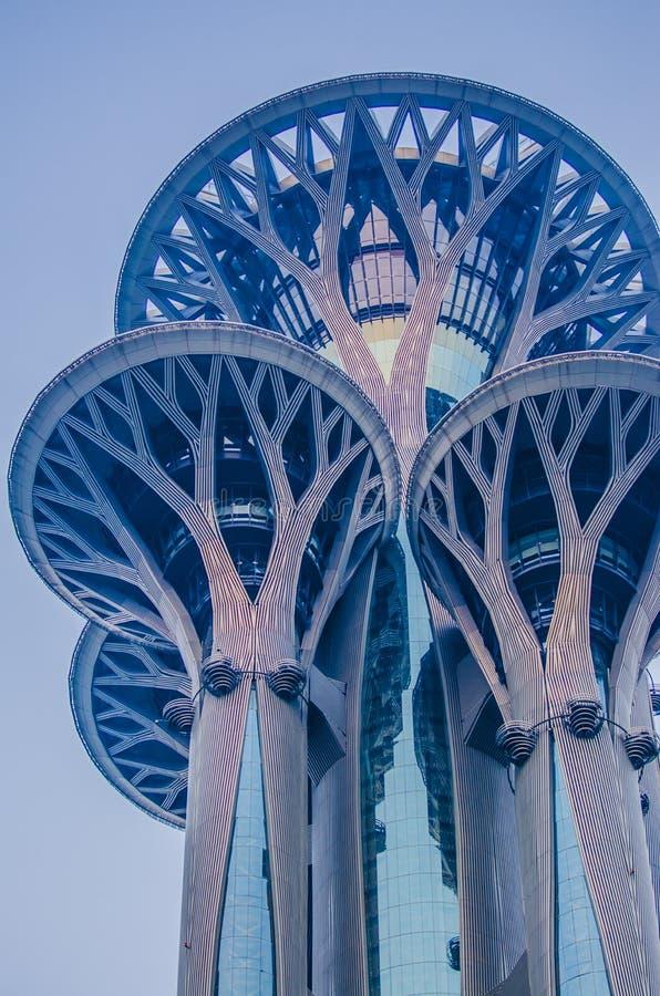 Torre de visita turístico de excursión olímpica imagen de archivo