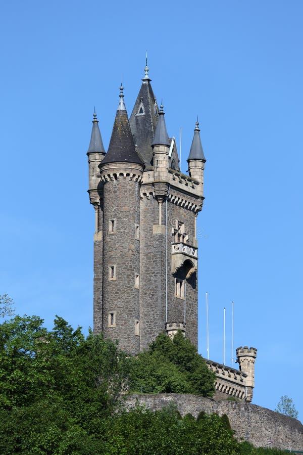 Torre de Wilhelmsturm en Dillenburg imágenes de archivo libres de regalías