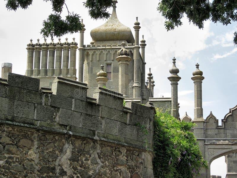 Torre de Yalta del palacio de Vorontsov fotos de archivo libres de regalías
