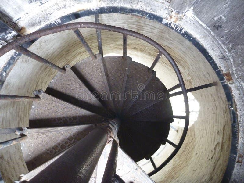 Torre Ded del puesto de observación sobre ciudad del beroun en República Checa con una escalera redonda fotos de archivo libres de regalías