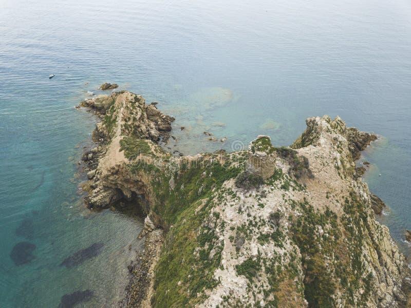 Torre Degli Appiani Insel in Punta-Ala Italien stockfotos
