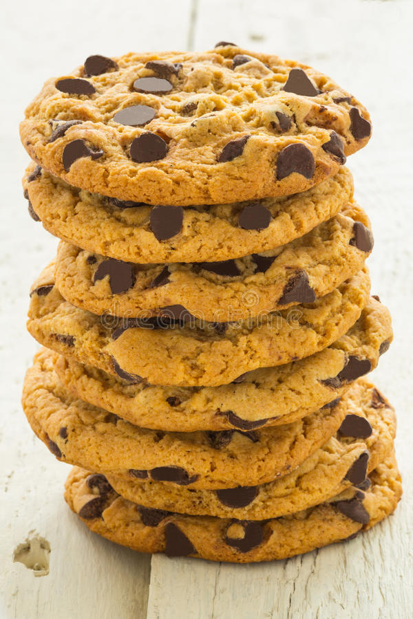 Torre dei biscotti del chip di Choc fotografia stock