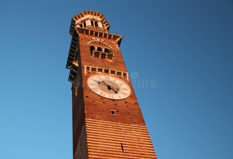 Torre Dei Lamberti in Verona Italy immagine stock