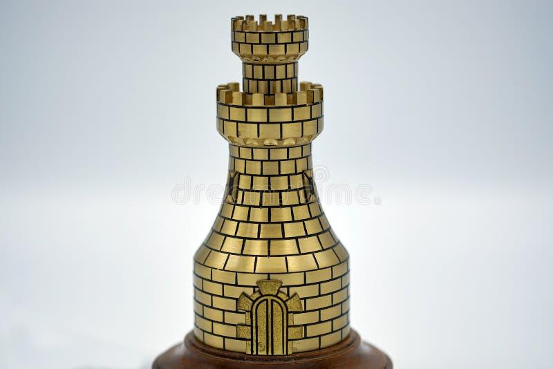 Torre del ajedrez del metal fotografía de archivo