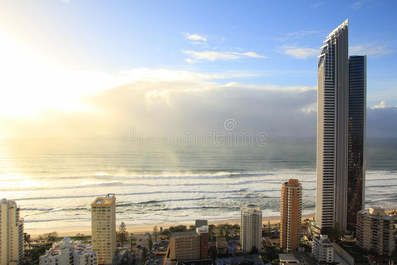 Torre del alma en la salida del sol foto de archivo