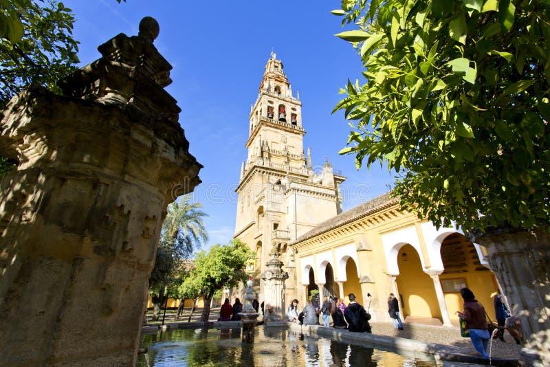 Torre del Alminar de la Mezquita à Cordoue photographie stock libre de droits