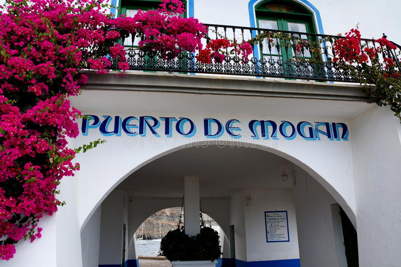 Torre del amo del puerto en Puerto de Mogan foto de archivo libre de regalías