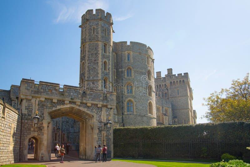 Torre del archivo del gobierno en Windsor Castle medieval Berkshire, Inglaterra Reino Unido, imagen de archivo