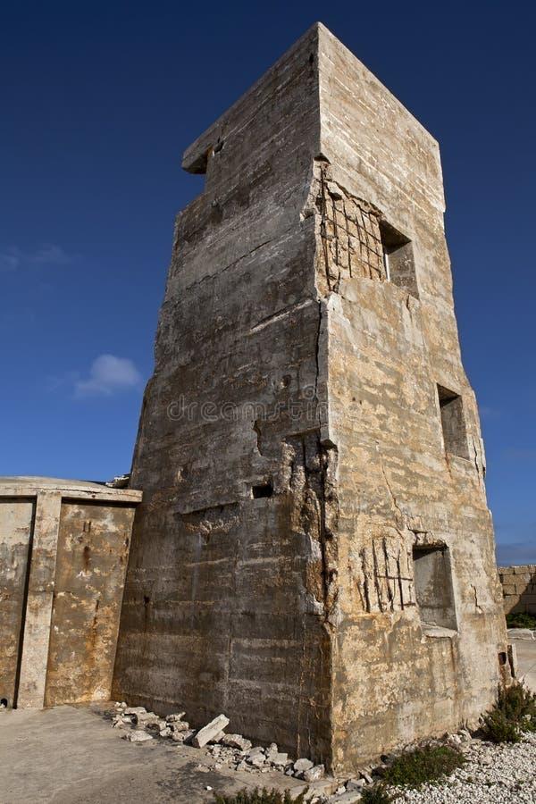Torre del arma de Ricasoli de la fortaleza imagen de archivo libre de regalías