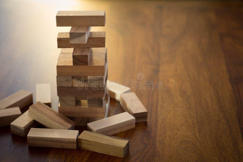 Torre del bloque de madera foto de archivo libre de regalías