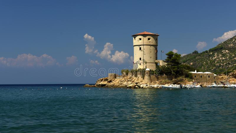 Torre del Campese, Giglio Campese, Tuscany, Italy royalty free stock photos