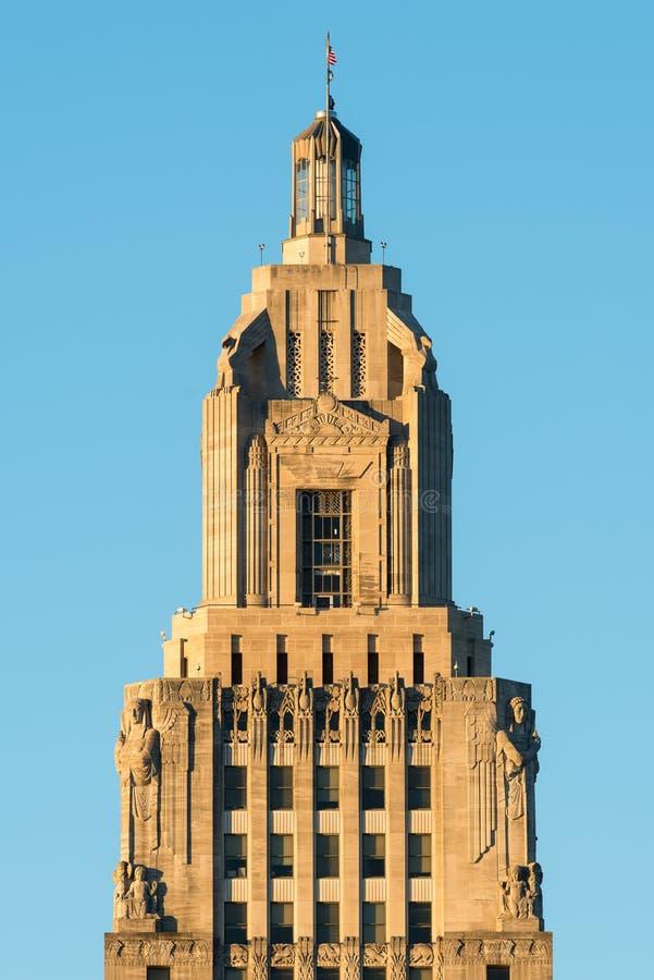 Torre del Campidoglio dello stato della Luisiana fotografia stock